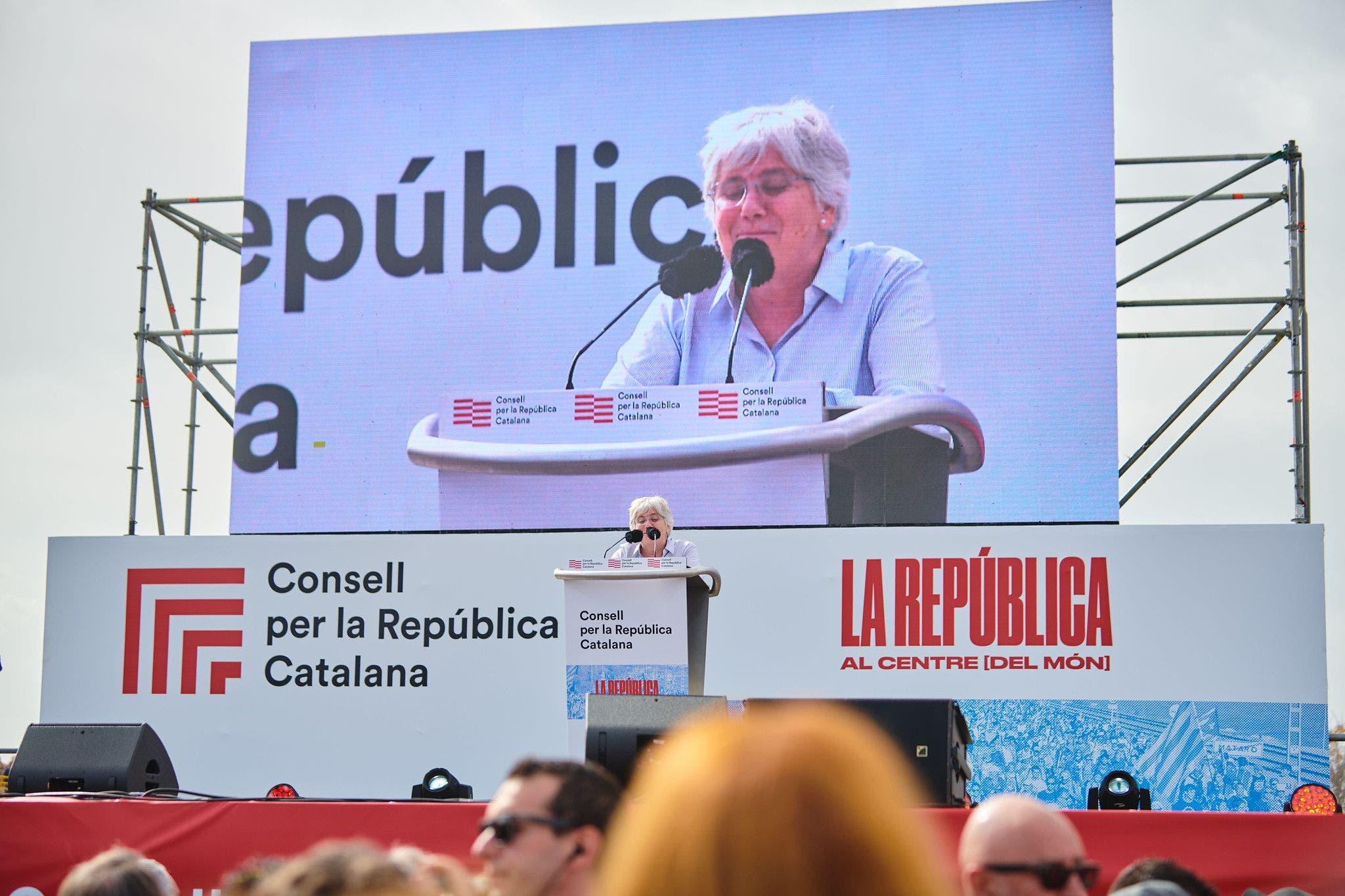 La exconsellera fugada Clara Ponsatí, en un acto del opaco Consell per la República en Perpiñán (Francia) / Julio Díaz (JxCat)