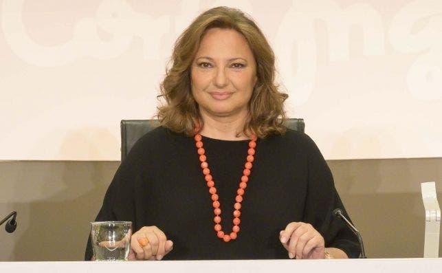 Marta Álvarez, presidenta de El Corte Inglés, en la junta de accionistas de la compañía. Imagen: El Corte Inglés