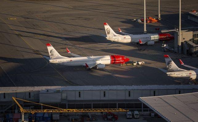 Aviones de Norwegian. Fuente: Norwegian.