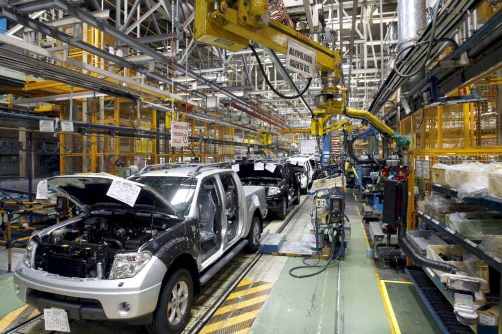 Interior de la fábrica de Nissan Motor Ibérica en la Zona Franca de Barcelona. /Toni Albir