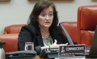 La presidenta de la Autoridad Independiente de Responsabilidad Fiscal (AIReF), Cristina Herrero, comparece en la Comisión de Presupuestos del Congreso para ofrecer su análisis de las cuentas de 2021 presentadas por el Ejecutivo./ EFE