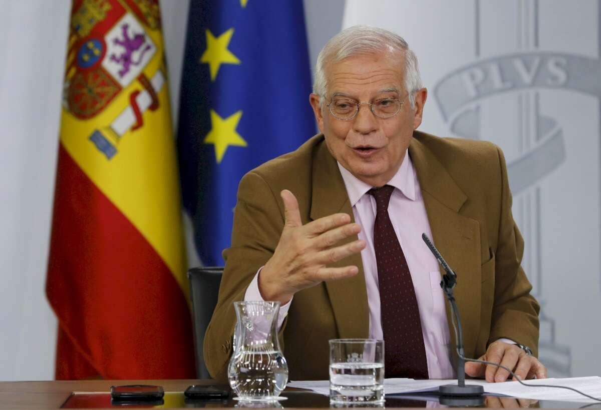 Borrell, durante una comparecencia posterior al Consejo de Ministros. EFE/Ballesteros
