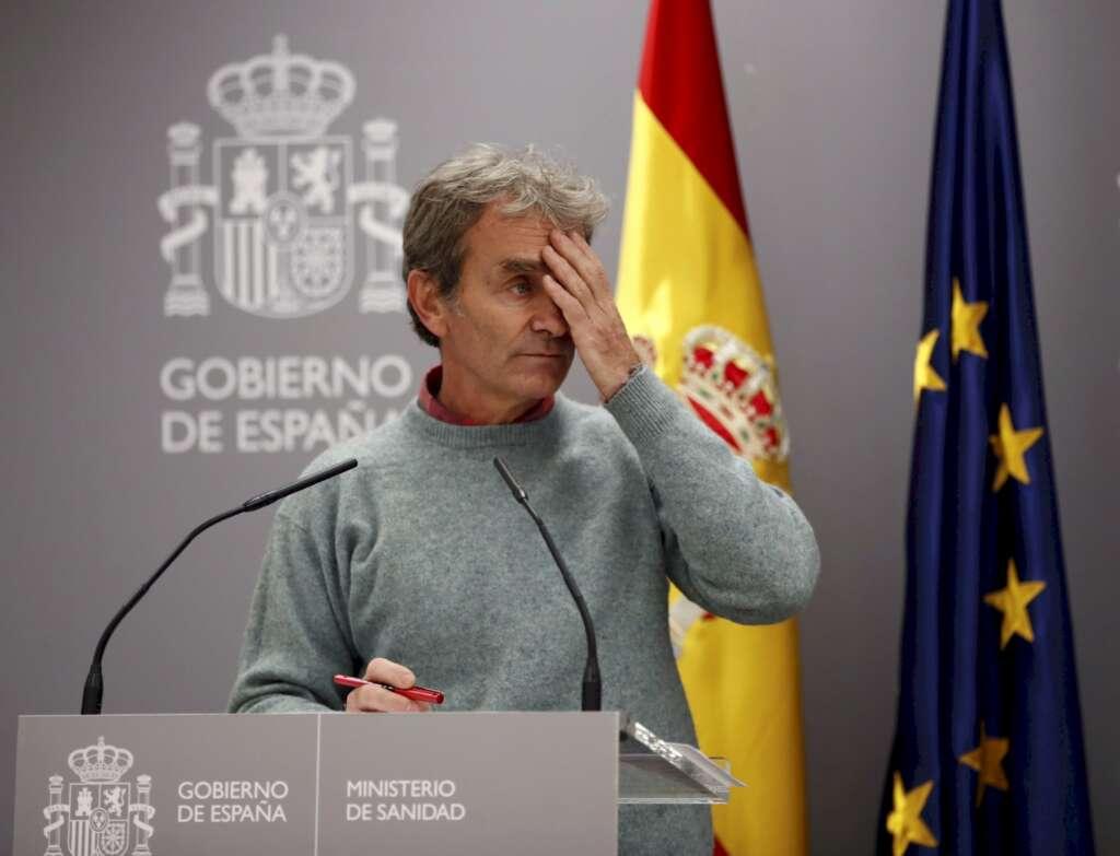 El director del Centro de Alertas y Emergencias Sanitarias, Fernando Simón, durante una de sus últimas ruedas de prensa en Madrid