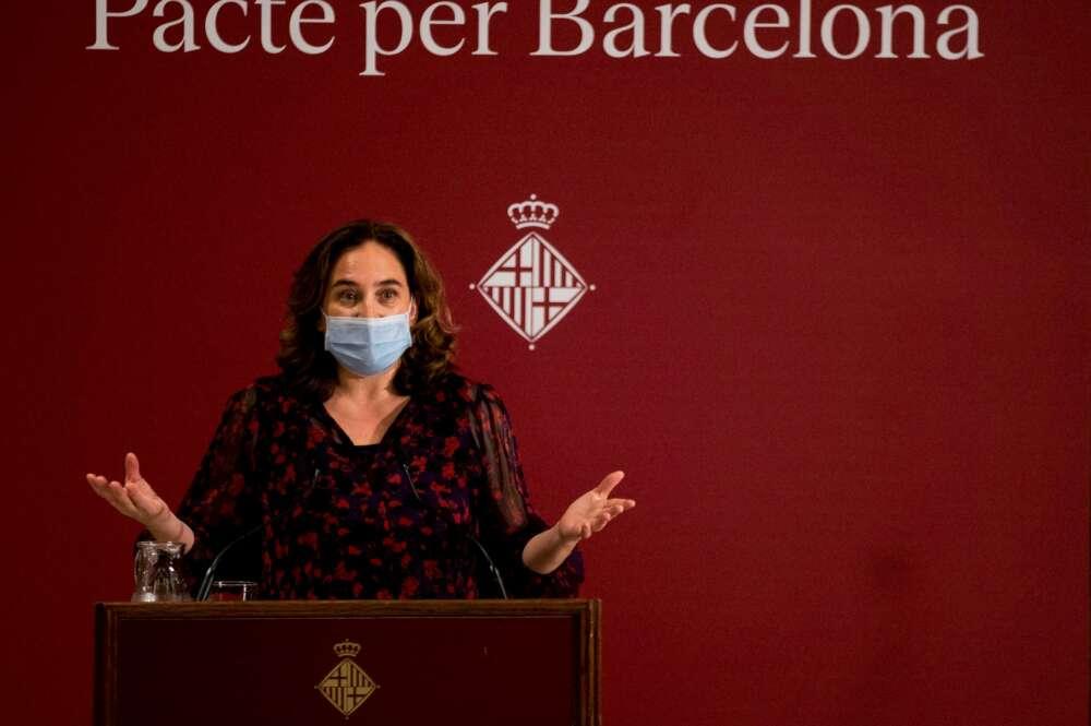Ada Colau, alcaldesa de Barcelona, en un acto en 2020   EFE/EF/Archivo
