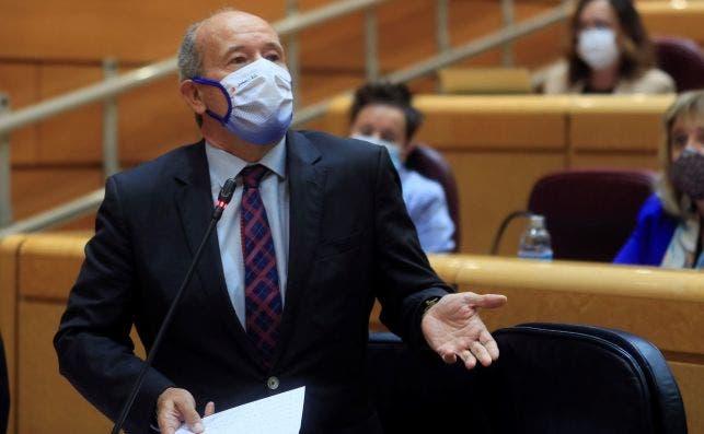 El ministro de Justicia, Juan Carlos Campo, en una de sus últimas intervenciones en el Senado.