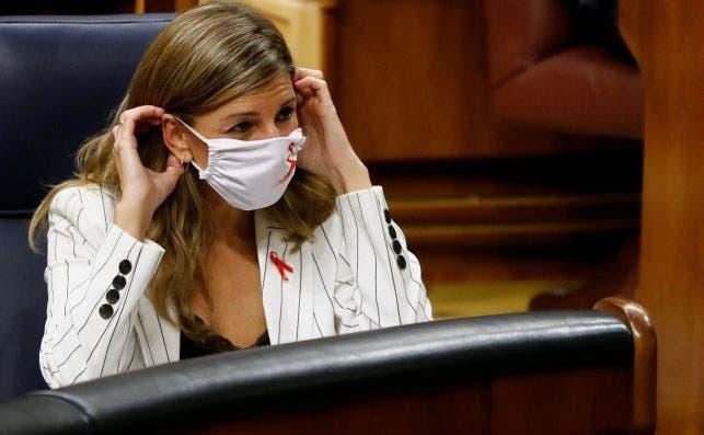La ministra de Trabajo,Yolanda Díaz, durante el pleno del pasado martes en el Congreso de los Diputados / EFE