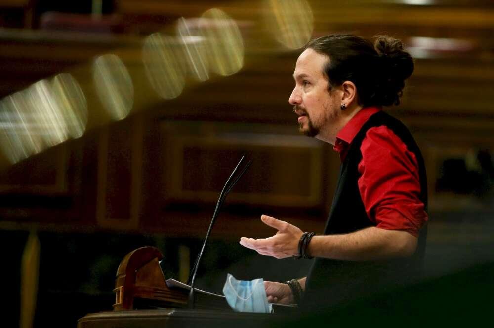 El líder de Podemos y vicepresidente segundo del Gobierno, Pablo Iglesias, en una comparecencia ante el Congreso | EFE/Mariscal/Archivo