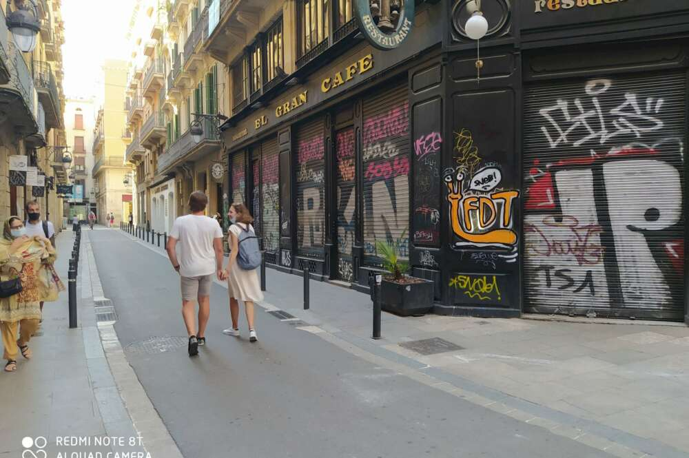 Imagen del Gran Café Barcelona, una de las empresas que ha cerrado por la crisis económica de coronavirus. /ED