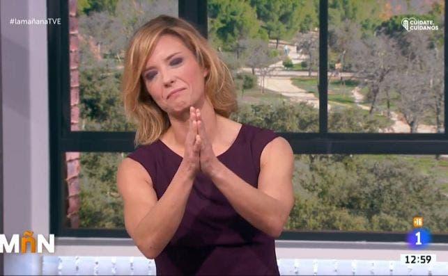 La ex-presentadora de La Mañana de TVE, María Casado, llora en su despedida tras el cese fulminante de Rosa María Mateo / RTVE