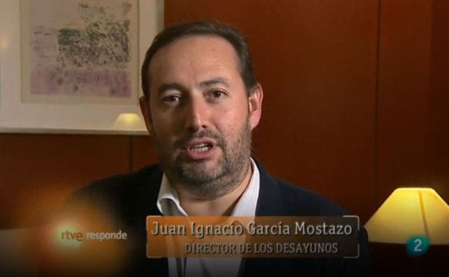 Ignacio García Mostazo en un programa de La 2 en 2013. El periodista codirige con Jesús Cintora el nuevo programa de La 1, 'Las cosas claras' | RTVE/Archivo