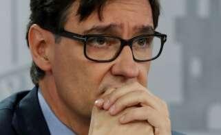 Salvador Illa comparece tras participar en su último Consejo de Ministros, después de dimitir. EFE/J.J. Guillén