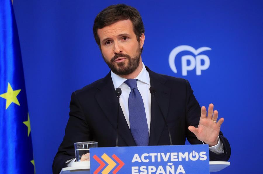 El presidente del Partido Popular, Pablo Casado. EFE/Fernando Alvarado