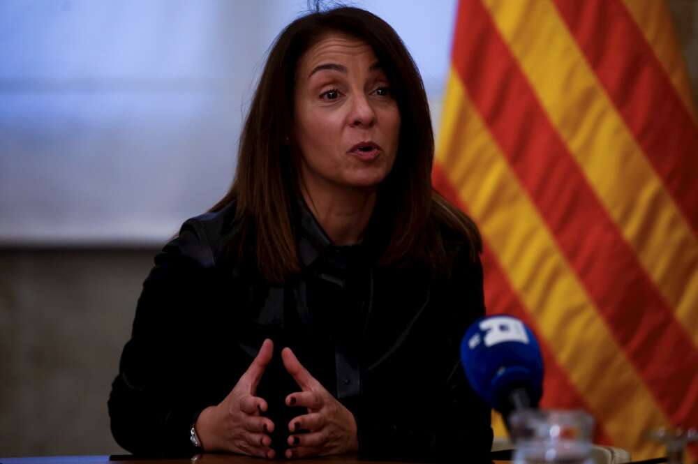 La portavoz del Govern de la Generalitat, Meritxell Budó, durante una entrevista el 3 de enero de 2021 | EFE/QG/Archivo