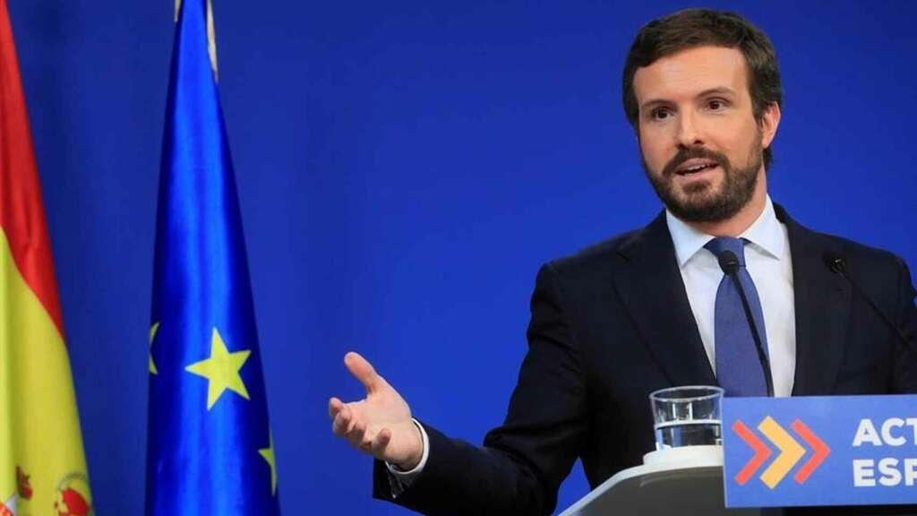 El presidente del PP, Pablo Casado./ EFE