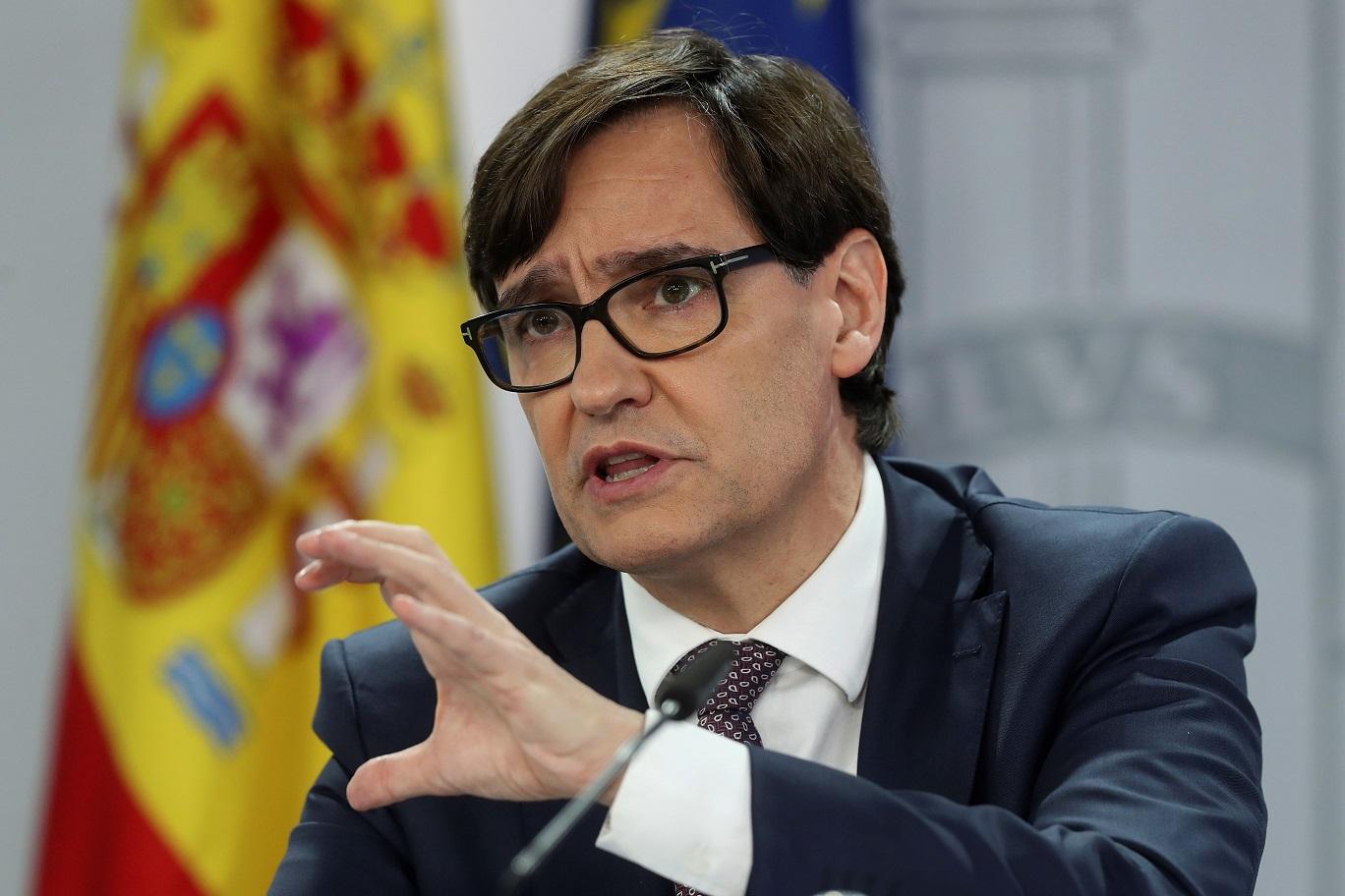 El ministro de Sanidad, Salvador Illa, asegura que el confinamiento domiciliario no es una opción para afrontar la tercera ola de coronavirus en España | EFE/Archivo