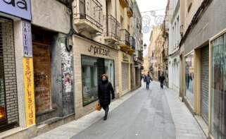 Las principales zonas comerciales y de la hostelería de Badajoz y Cáceres casi vacías. EFE/Eduardo Villanueva/Archivo