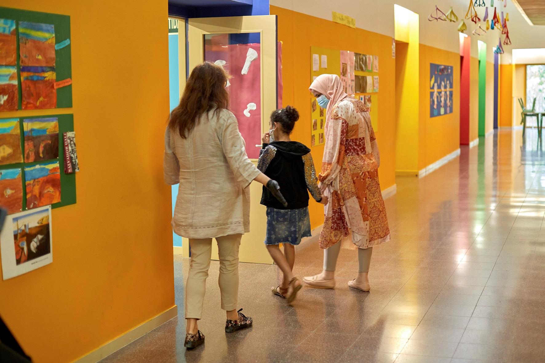 Una escuela de Girona (Cataluña) durante el primer día de clases después del confinamiento de la primera ola de coronavirus, en junio de 2020   EFE/DB/Archivo
