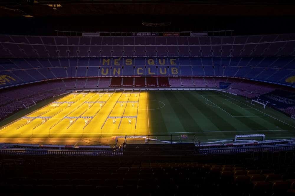Vista general del Camp Nou. Las elecciones del FC Barcelona penden de un hilo por la evolución del coronavirus en Cataluña | EFE/MP/Archivo