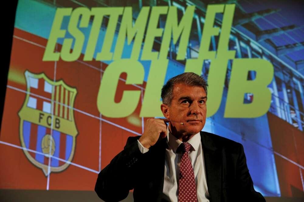 El candidato favorito a la presidencia del FC Barcelona, Joan Laporta, durante un acto el 7 de enero de 2021 | EFE/AG/Archivo