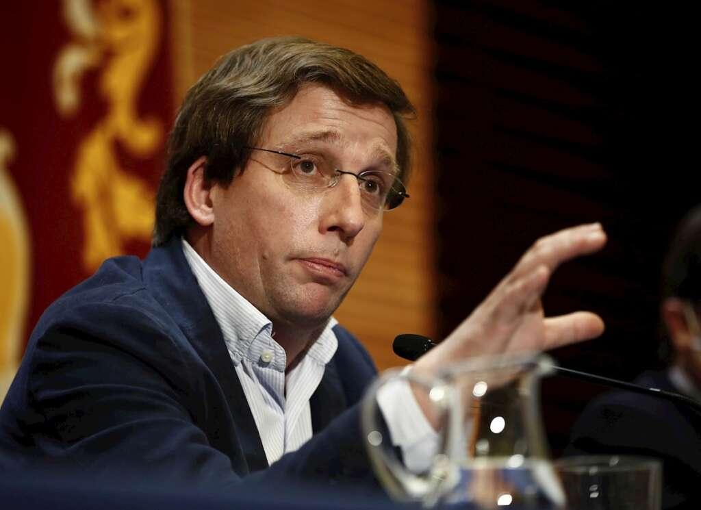 El portavoz del Partido Popular, José Luis Martínez Almeida, comparece en rueda de prensa. Javier López