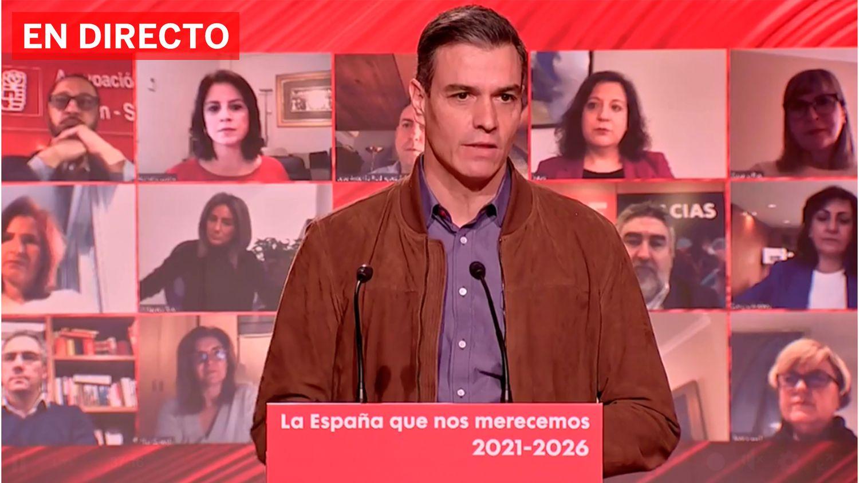 Pedro Sánchez durante el Comité Federal del PSOE celebrado en Barcelona este sábado