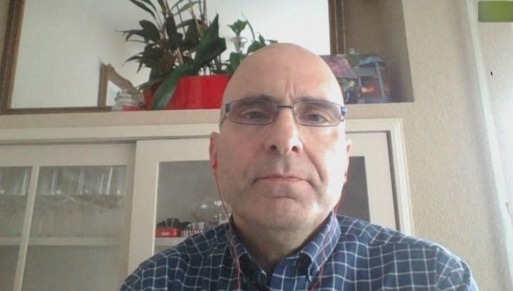 El virólogo de la UAM, José Antonio López, interviene en una entrevista con Antena 3 para valorar el avance de la pandemia de coronavirus