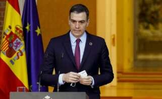 El presidente del Gobierno, Pedro Sánchez, en la Moncloa./ EFE