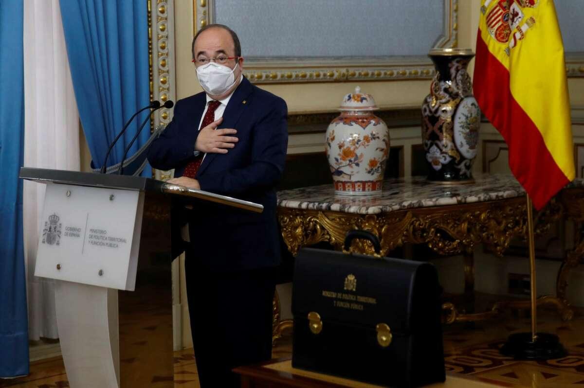 El nuevo ministro de Política Territorial y Función Pública, Miquel Iceta. EFE/ Ballesteros POOL