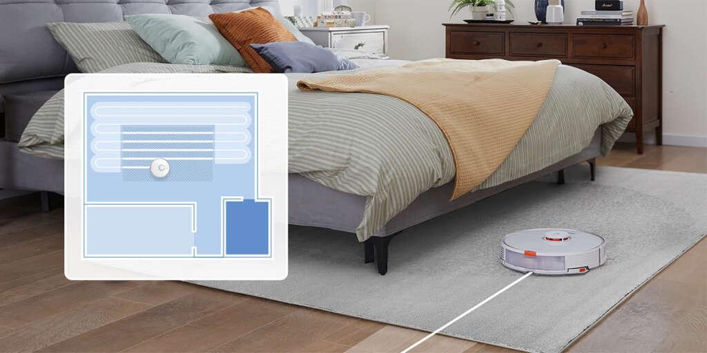 La mopa robotizada, el detector de alfombras, y el sistema de navegación permiten un control total sobre la limpieza con mopa