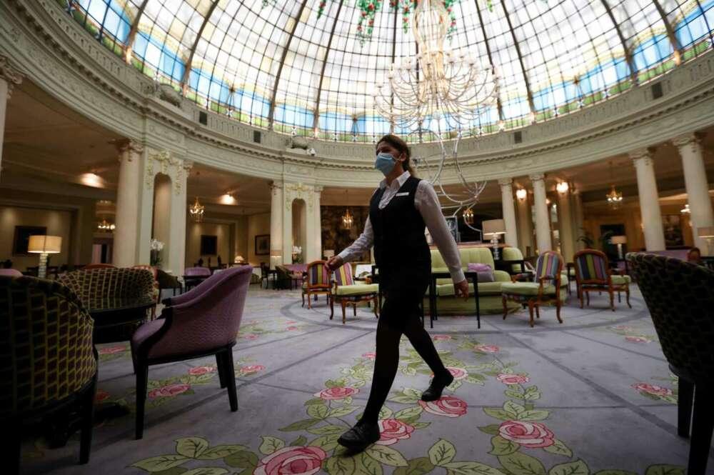 Imagen tras la reapertura del Hotel Westin Palace en Madrid. EFE