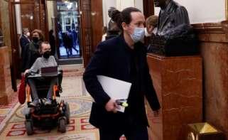 El exvicepresidente segundo del Gobierno y líder de Unidas Podemos, Pablo Iglesias, a la entrada del hemiciclo del Congreso de los Diputados | EFE/Archivo