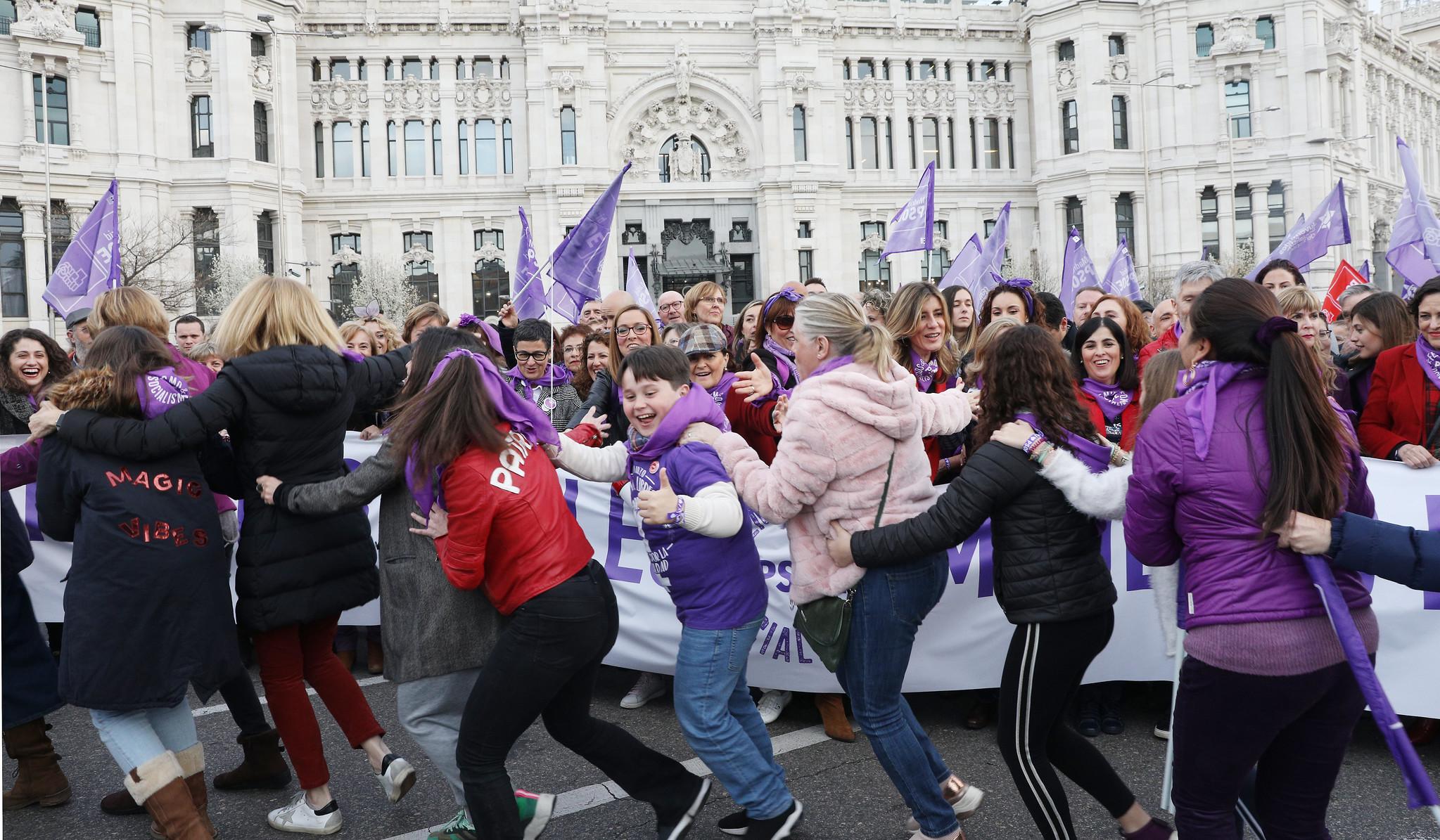 Manifestación feminista del 8M de 2020 con presencia del Gobierno / PSOE
