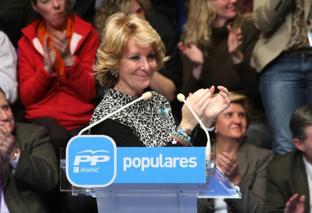 La expresidenta de la Comunidad de Madrid, Esperanza Aguirre / PP Madrid