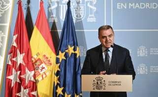 El delegado del Gobierno en Madrid, José Manuel Franco, comparece en rueda de prensa. EFE