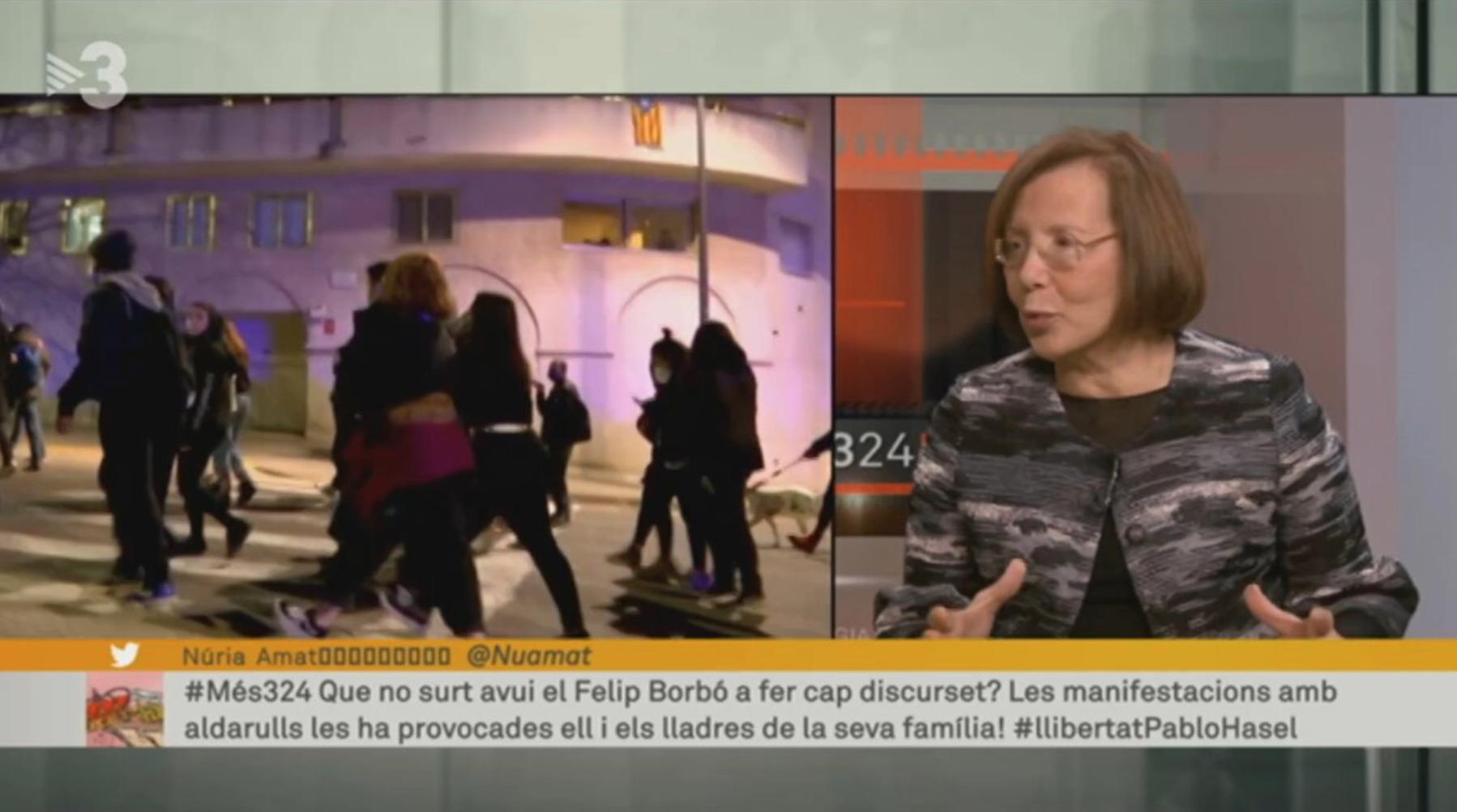 Captura del Més 3/24 donde se leen los mensajes ofensivos de trabajadores de TV3 / CCMA