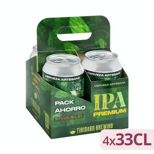 Cerveza IPA Premium Tibidabo de Mercadona