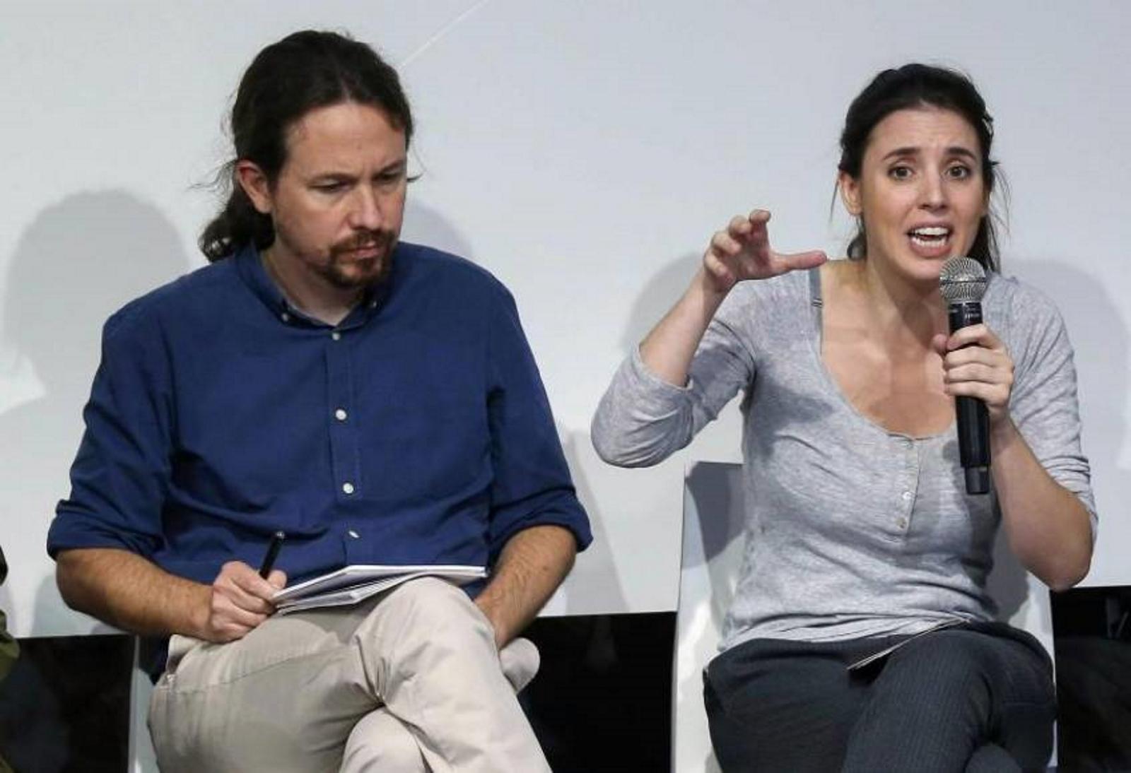 Irene Montero y Pablo Iglesias./ EFE