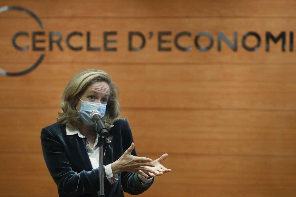 La vicepresidenta tercera del Gobierno y ministra de Asuntos Económicos y Transformación Digital, Nadia Calviño. EFE/Andrea Dalmau
