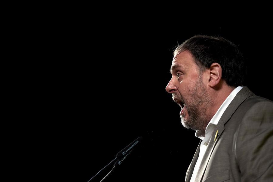 El líder de ERC y líder del procés condenado por sedición, Oriol Junqueras / EFE