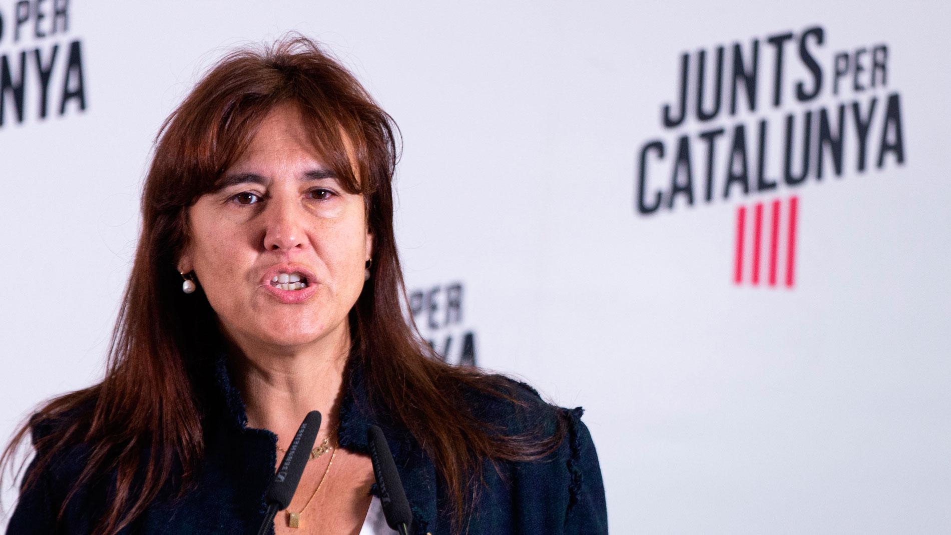 La diputada de JxCat Laura Borràs. EFE/Enric Fontcuberta/Archivo