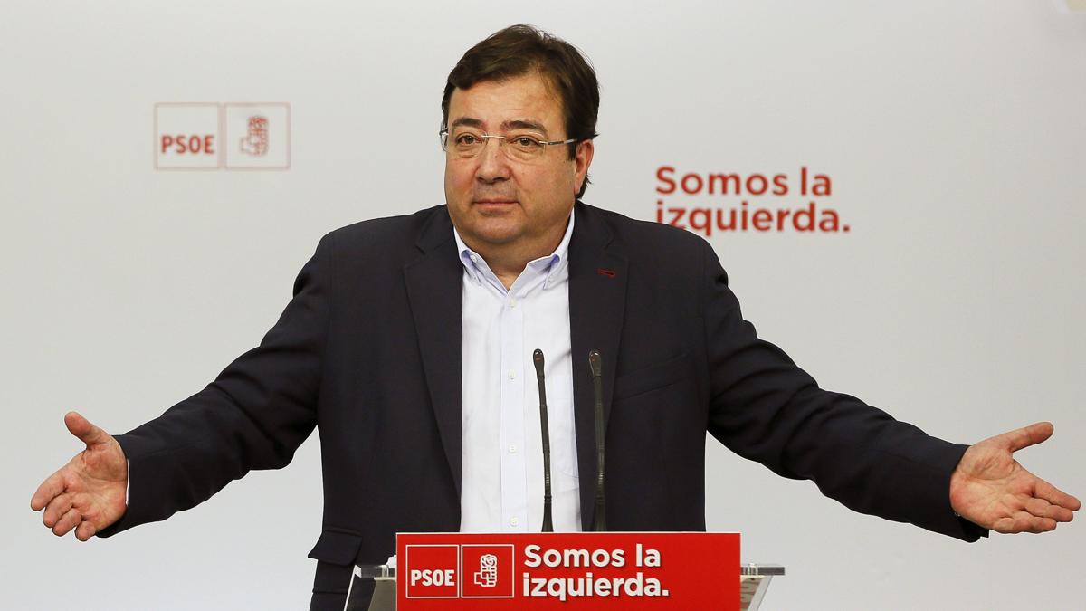 Guillermo Fernández Vara, presidente de la Junta de Extremadura. / EFE