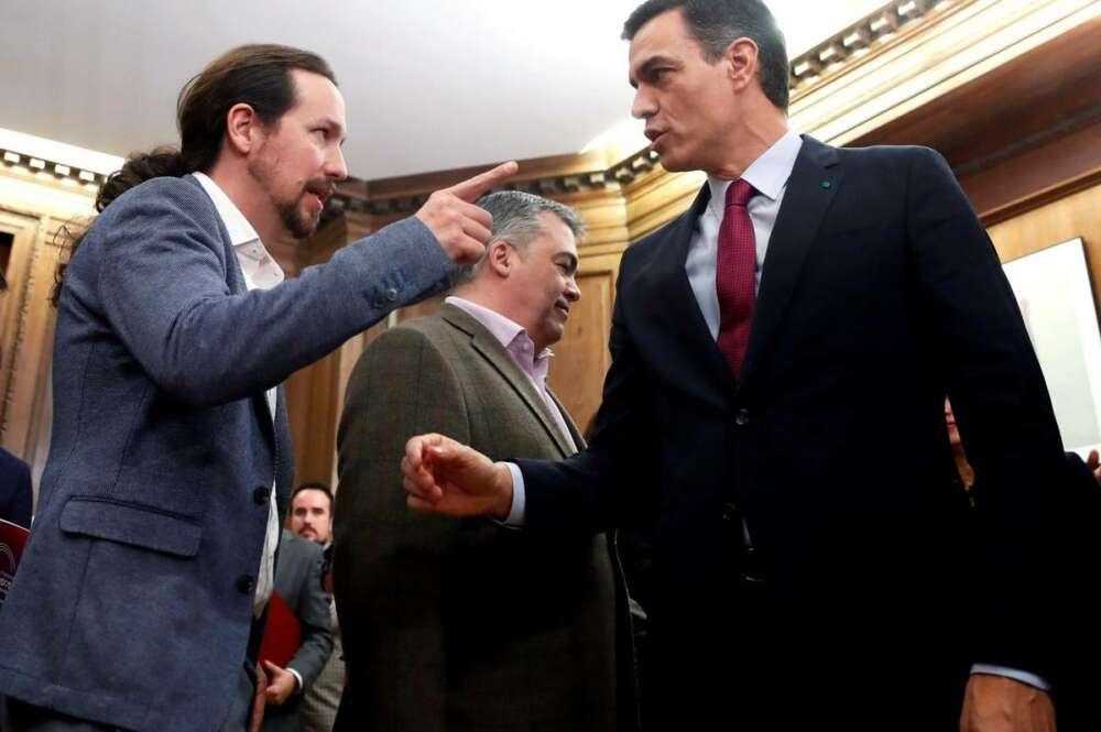 El presidente del Gobierno, Pedro Sánchez y el líder de Podemos, Pablo Iglesias, en una imagen de archivo./EFE