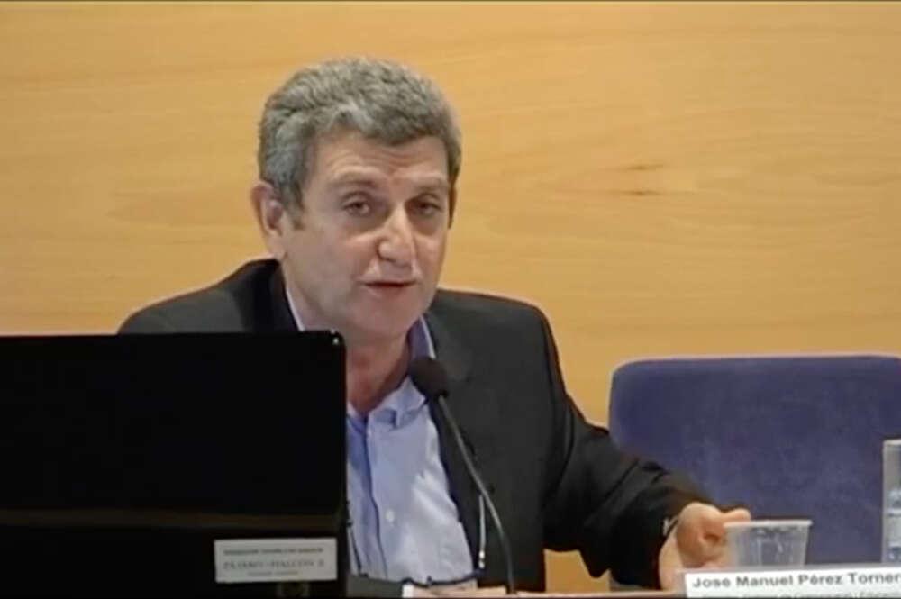José Manuel Pérez Tornero, actual director de RTVE, durante una charla organizada en la UAB