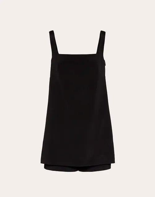 'Mono corto en Stretch Crepe Couture'