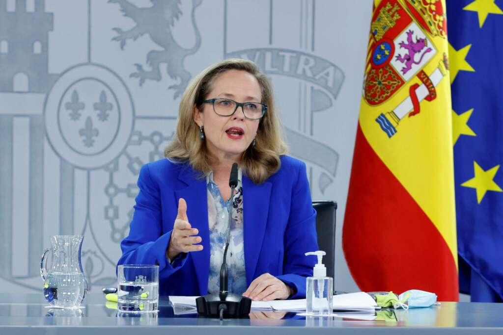 La vicepresidenta tercera Nadia Calviño