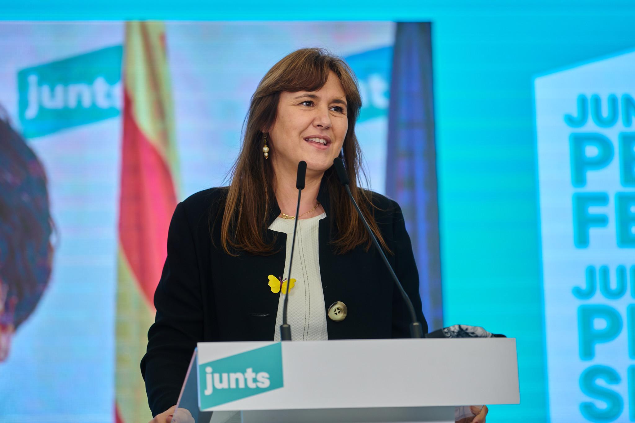La líder de JxCat, durante la noche electoral del 14-F / Julio Díaz (JxCat)