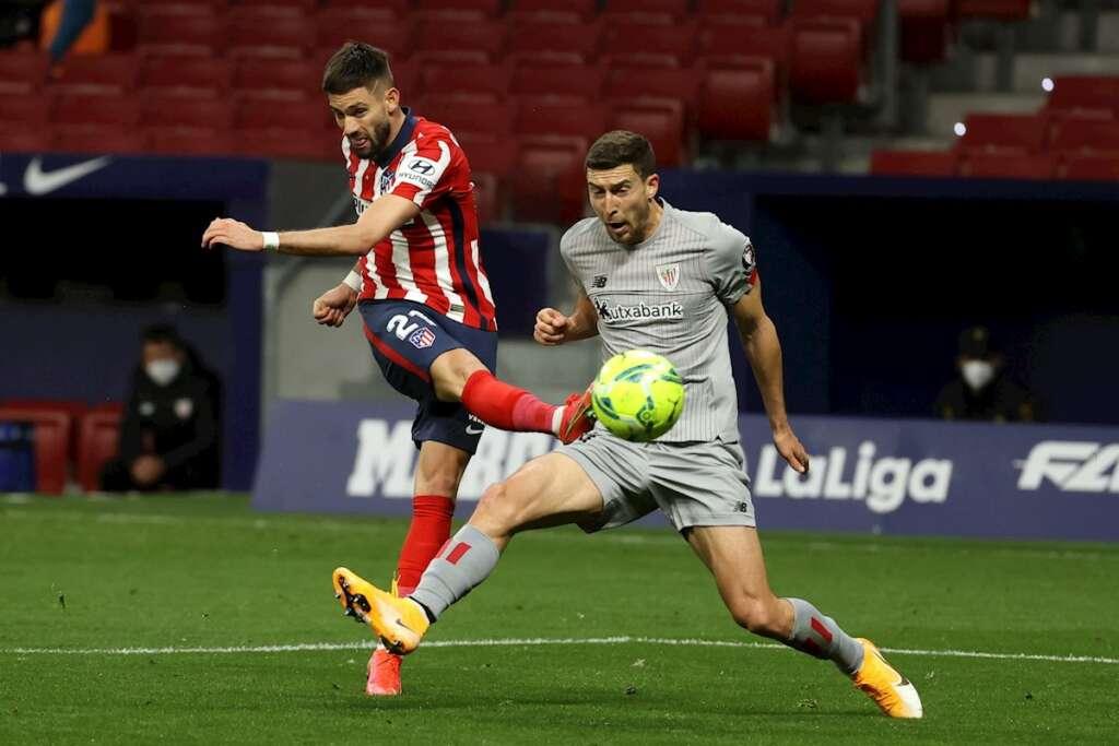 Un partido de La Liga entre el Athletic Club de Bilbao y el Atlético de Madrid, el 10 de marzo de 2021, en el estadio Wanda Metropolitano sin público   EFE/JJM/Archivo