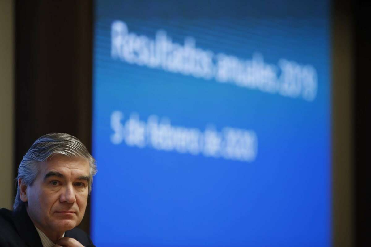 El presidente ejecutivo de Naturgy, Francisco Reynés durante una rueda de prensa para presentar los resultados de la compañía.