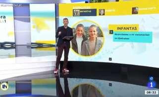 TVE confunde a las infantas Leonor y Sofía con las hermanas del Rey, Elena y Cristina, salpicadas por la polémica vacunación en Abu Dabi