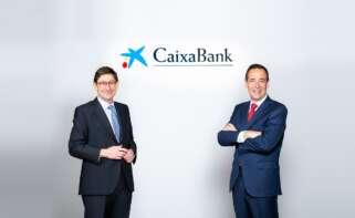 El presidente de Caixabank, José Ignacio Goirigolzarri, y el consejero delegado, Gonzalo Gortázar.